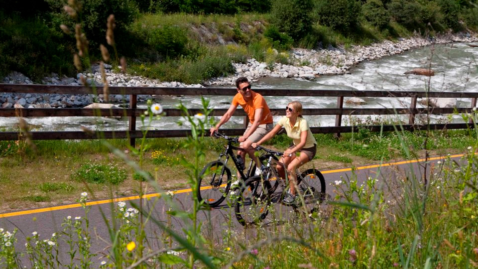 Mountain biking through the Val di Sole